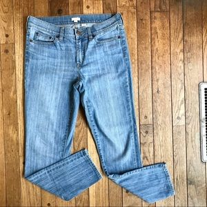J. Crew Cropped Skinny Leg Medium Wash Jeans